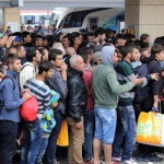 Refugees heading for Sweden. Click to enlarge