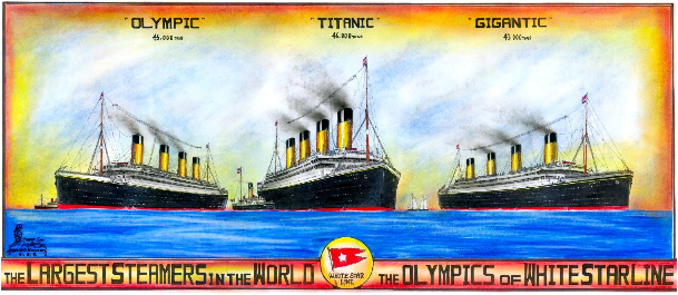 TITANIC AND HER TWO SISTER SHIPS POSTER -01
