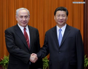 Netanyahu and Xi Jinping, President of PRC. Click to enlarge