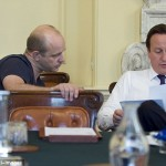 Steve Hilton with Cameron in the Cabinet Room at No 10 Downing Street. Click to enlarge