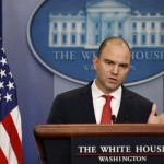 U.S. Deputy National Security Advisor Ben Rhodes speaks about Obama's upcoming visit to Cuba at the White House in Washington February 18, 2016. U.S. President Barack Obama on Thursday announced a historic visit to Cuba next month, speeding up the thaw in relations between the two Cold War former foes but igniting opposition from Republicans at home. REUTERS/Kevin Lamarque