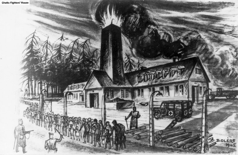 """The chimneys never stopped belching black smoke…"" 25,000 corpses a day = 41 million corpses in 4.5 years. Click to enlarge"