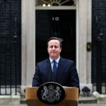 David Cameron announces his plans to resign in front of No 10 Downing Street. Click to enlarge