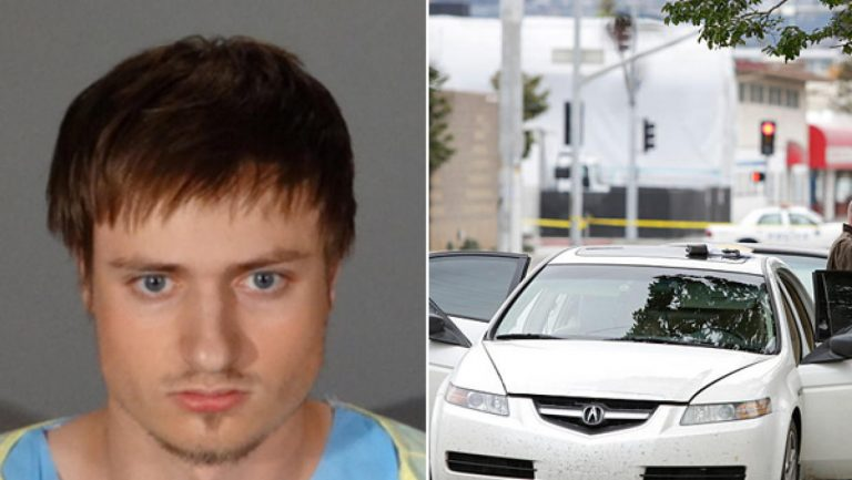 James Wesley Howell and his munitions-laden car. He hasn't committed a crime but turned himself in instead. Co why is he still being held and why the media silence over his case? Click to enlarge