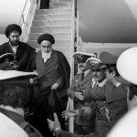 Khomeini return from exile. Click to enlarge