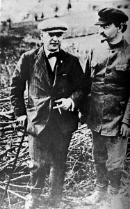 Christian Rakovsky with Leon Trotsky c. 1924. Stalin hijacked Communism. Trotsky, an agent of the Illuminati Jewish central bankers was supposed to succeed Lenin. Click to enlarge