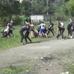 Russian football thugs, 'Ultras', in training. Click to enlarge