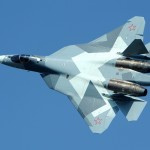 A Russian T-50 jet. click to enlarge