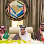 Saudi King Salman (C) attends a Gulf Cooperation Council (GCC) summit in Jeddah, Saudi Arabia May 31, 2016. Saudi Press Agency. Click to enlarge