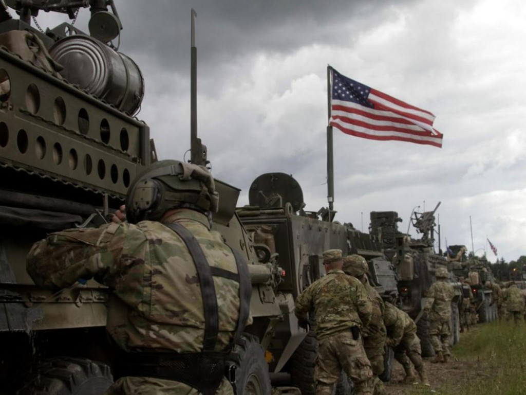 US troops en route to NATO drills in Lithuania, Latvia and Estonia for an earlier drill. Click to enlarge