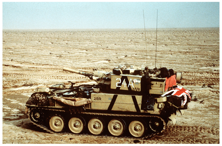 British Scorpion armoured vehicle 1991. Click to enlarge