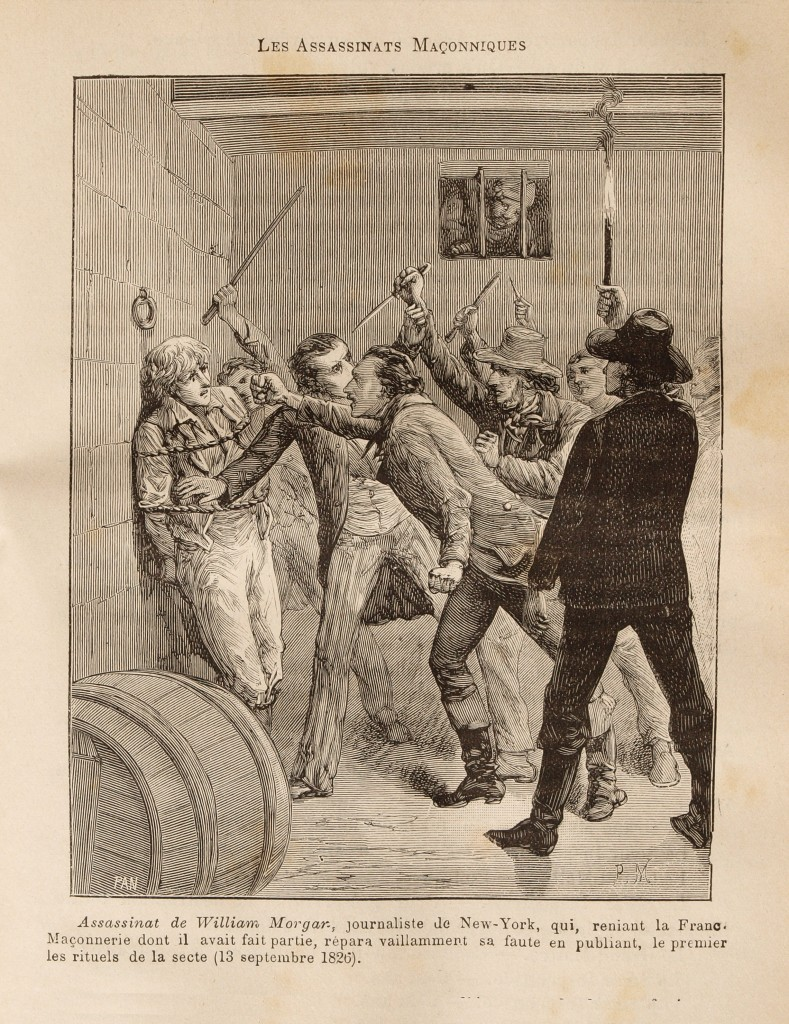The assassination of William Morgan, engraved by artist Pierre Méjanel. Click to enlarge