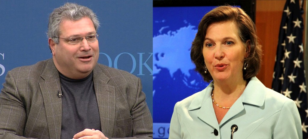 Robert Kagan and his wife Victoria Nuland. Click to enlarge