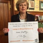 Moments after it was announced Theresa May will replace David Cameron as Prime Minister, Mrs May signed a pledge committing to remembering the Holocaust.
