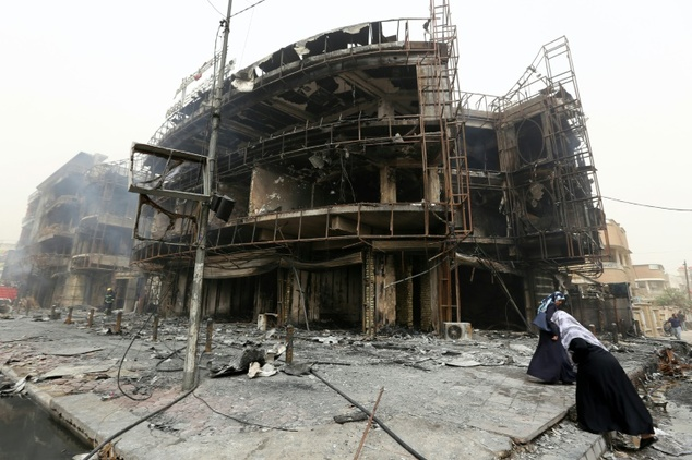 Devastation wrought by the latest bombings in Baghdad. Click to enlarge