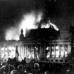 Burning of the Reichstag 1933. Germany / Mono Print
