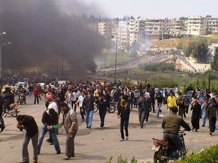 The start of civil unrest in Deraa in March 2011. The covert involvement of Saudi Arabia, Israel and the U.S. saw protests grow increasingly violent and eventually led to a full blown armed conflict. Click to enlarge