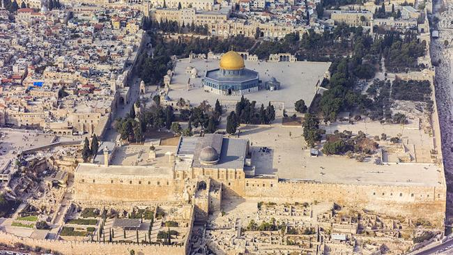 Dome of the Rock and the Al Aqsa Mosque Jerusalem August 2016. Click to enlarge