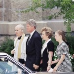 President Clinton and first Lady Hillary attend Forsters funeral. Click to enlarge
