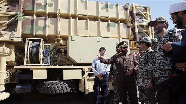 Brig. Gen. Esmaili speaking next to a Talaash air defence system. Click to enlarge