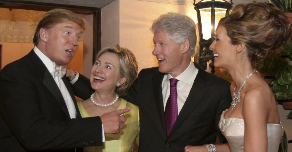 The Clintons were guests at Trump's wedding in January 2005. Click to enlarge