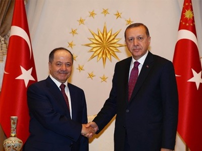On 23 August 2016, at the White Palace, Turkish President Recep Tayyip Erdoğan and his opposite number Massoud Barzani, head of the Iraqi Kurds, concluded an alliance against the other Kurdish parties