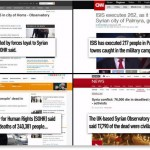 Media carry SOHR reports. Click to enlarge