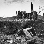 What remained of Nagasaki cathedral. Click to enlarge