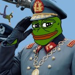 Pepe the frog is the mascot  of the alt right. Here Pepe Pinochet drops leftists into the sea from helicopters