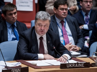 Donbass-Levant – two wars with a single goal. Tasked with cutting the «new Silk Road» which was intended to cross Siberia and enter the European Union via Ukraine, President Petro Porochenko visited the Security Council on 21 September, where he repeated the Anglo-Saxon propaganda concerning the war against Syria and Iraq, which is aimed at cutting the historic route of the «Silk Road».