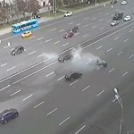 CCTV catches Putin's driver crash in Moscow last Sept. Click to enlarge