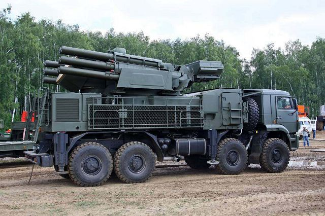 "The ""Pantsir S2"" anti-aircraft rocket missile and gun systems (ZRPK). Click to enlarge"