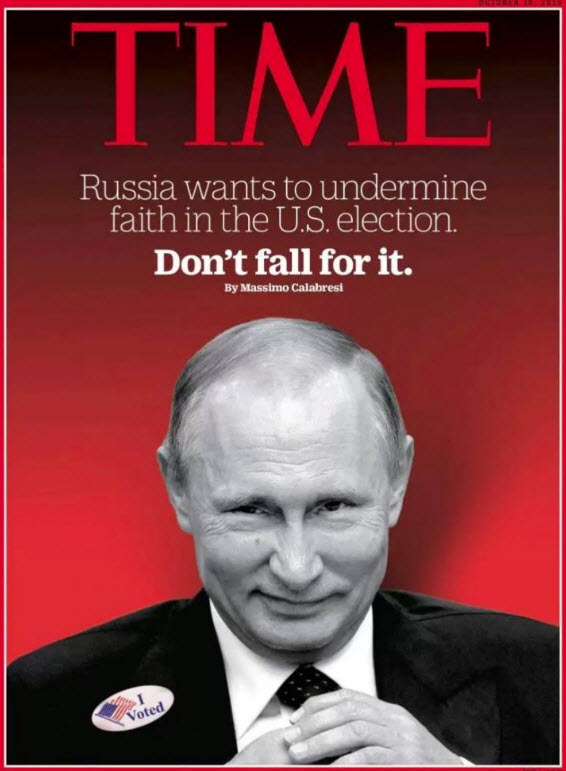 The corporate media would like you to think that Russia wants to undermine faith in US elections