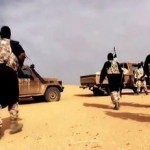 Al Qaeda in the Islamic Maghreb AQIM fighters in a propaganda video filmed in the Sahara. Click to enlarge