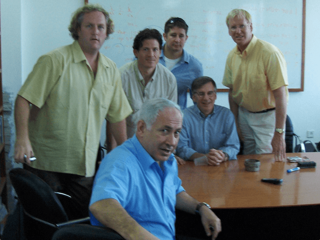 Netanyahu at the founding of Breibart News in Jerusalem in 2007. breibart could easily be a Mossad operation. Click for more on its origins.