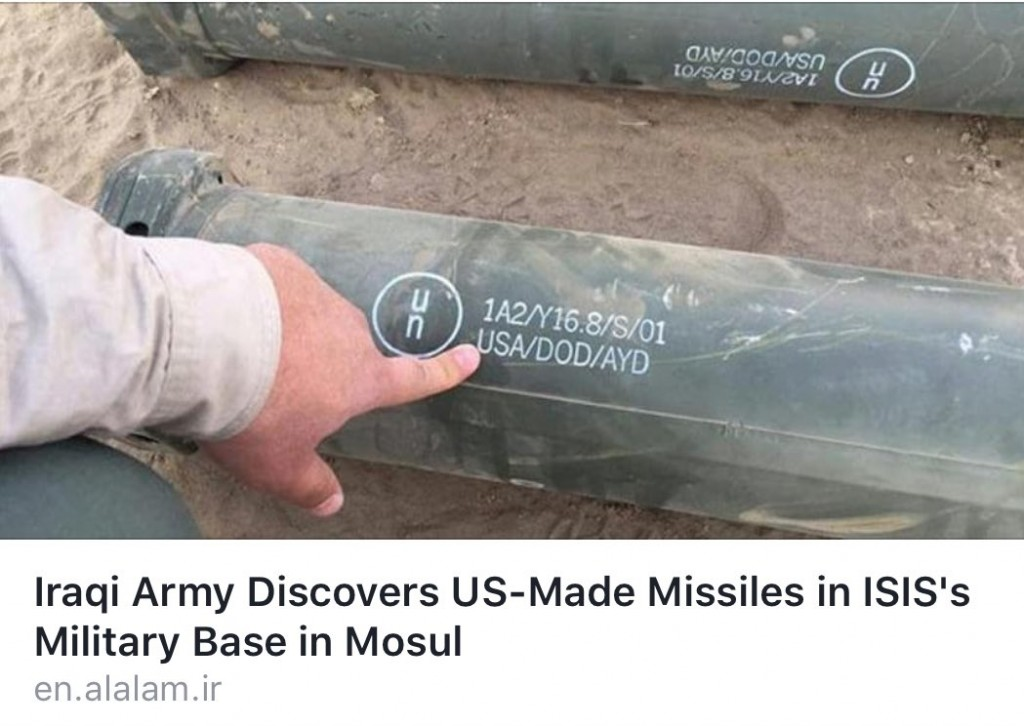 U.S.-made missiles at militants base in Mosul. Click to enlarge