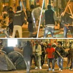 WAR ON THE STREETS OF PARIS: Armed migrants fight running battles in the French capital