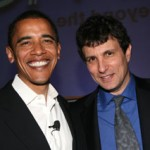 David Remnick, the editor of the NewYorker with Obama