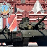 Armata tanks during the 2016 May Day Parade in Red Square, Moscow. Click to enlarge