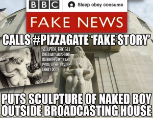 the BBC which covered up Jimmy Saville's crimes for decades has the nerve to call this fake news. Click to enlarge