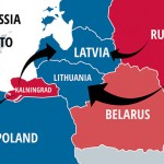 The map is misleading in that the arrows coming from Russian (red) territory suggest Russia is the aggressor. When in fact Poland, Latvia and Estonia have all recently opened up their territory to NATO forces, all three having formerly been part of the Warsaw Pact military alliance. Click to enlarge