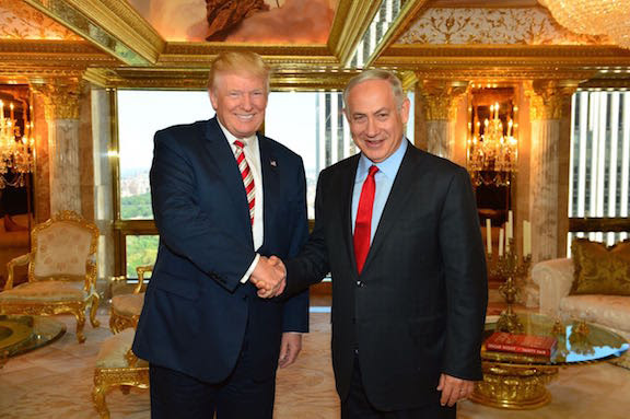 Trump and Netanyahu. Click to enlarge