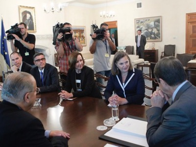 The President of the Republic of Cyprus, Nicos Anastasiades, receives the US Assistant Secretary of State for European and Eurasian Affairs, Victoria Nuland.
