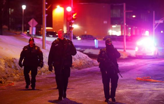 Quebec mosque shooting police-officers-