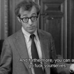 """In the climactic scene of 'The Front' Woody Allen tells the HUAC where to go. """"Go F**k yourselves"""" summarizes attitude of Cabalist Jews to the goyim, God and to the universe in general."""