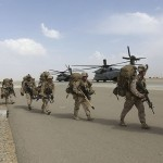 US troops arrive at Afghan base. Click to enlarge