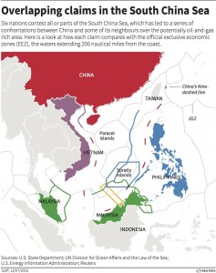 South China Sea: overlapping claims. Click to enlarge