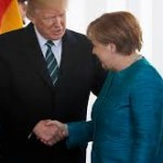 Media lying about Merkel-Trump shaking hands