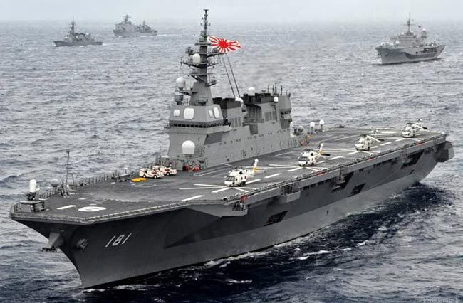 Izumo, Japan's helicopter carrier. Click to enlarge