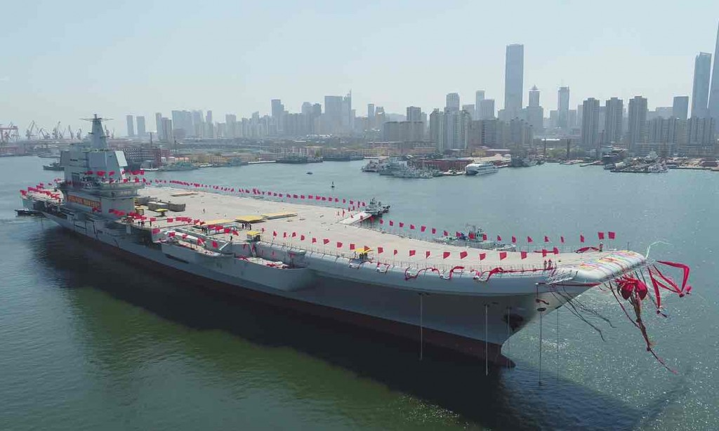 China's 2nd aircraft carrier in Dalian, Liaoning province. Click to enlarge